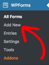 add new wpform template options