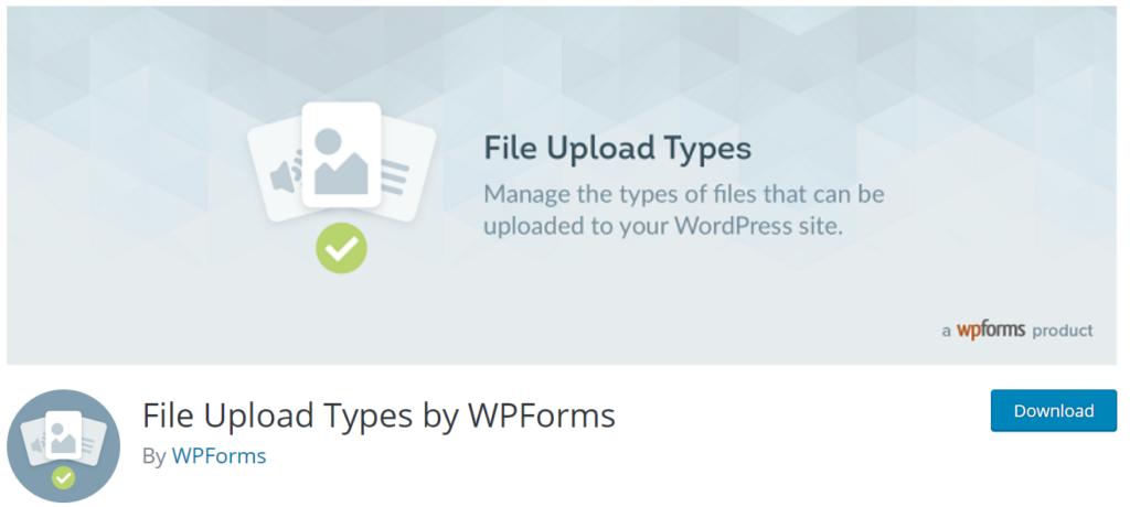 file upload types plugin