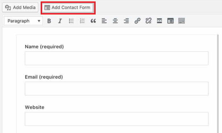 """jetpack """"add contact form"""" button"""