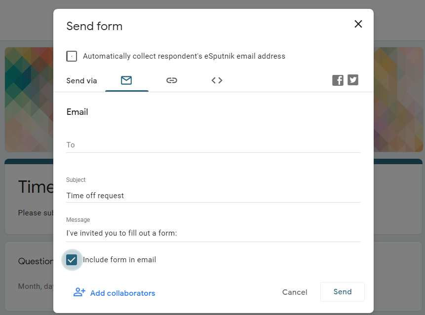 4 ways to send Google Form survey