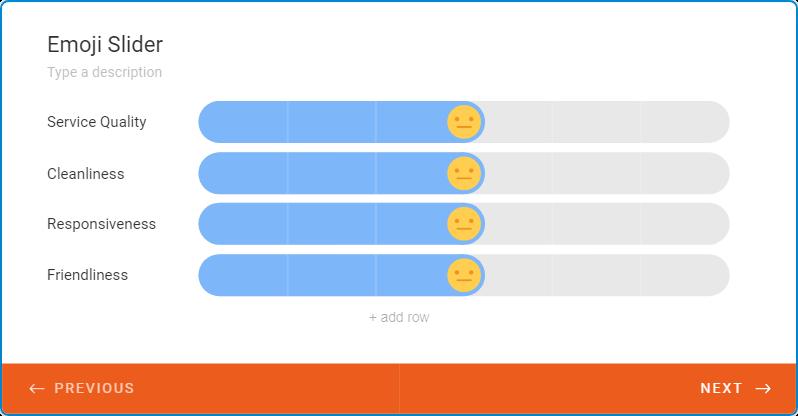blue emoji bar for feedback
