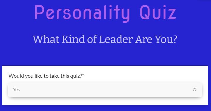 Lead generation survey