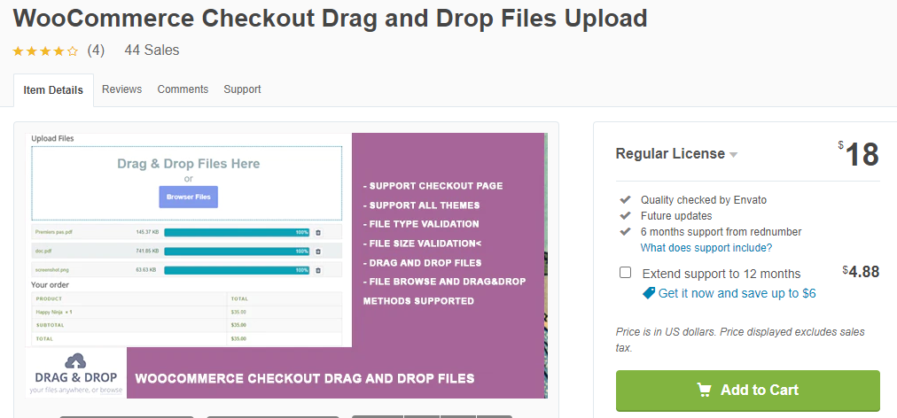 WooCommerce Drag and Drop File Uploads plugin