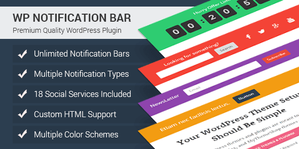 wp notification bar wordpress call-to-action plugin