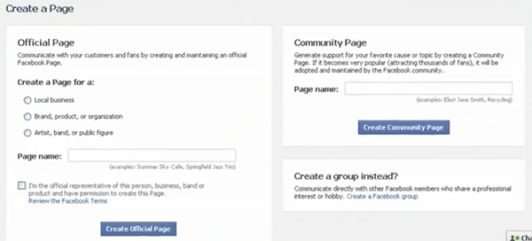 Facebook's very first signup form