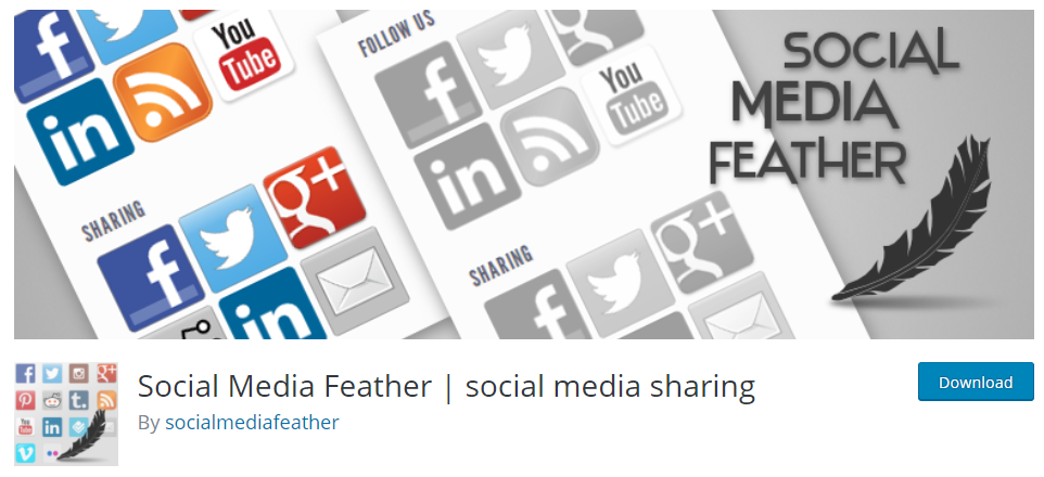 wordpress social media feather