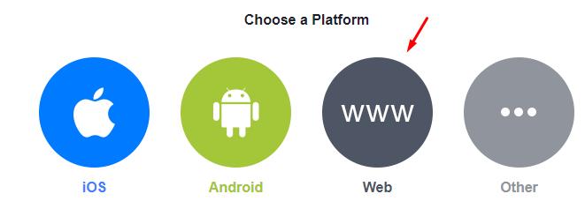 """Choose """"Web"""" for platform"""